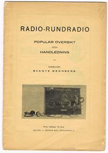 Radio-Rundradio från 1924. Dalarnes Tidnings o Boktr.-A.-B Hedemora.