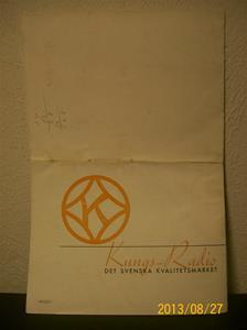 779. Kungs Radio, produktbeskrivning och prislista (baksidan). År: 1937-1938. Tillv: 1937 Sverige.   101_0457
