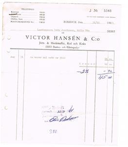 Viktor Hansén & Co 1964 10 31.