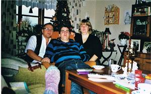 2008. Julhelgfika hos Mor Iris i Hemse.