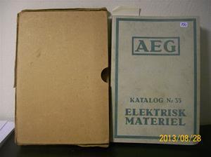 790. Såld. AEG katalog nr 35, elektrisk material. Nummer: 418565. Tillv: 1934 i Stockholm.   101_0482