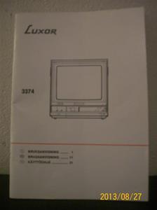 770. Luxor TV, 3374. Nummer: 66 73374-10. Tillv: Sverige. 101_0433
