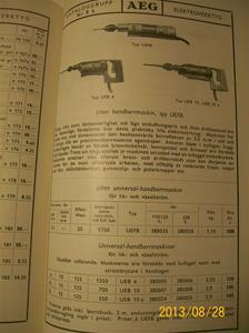 790. Såld. AEG katalog nr 35, elektrisk material. Nummer: 418565. Tillv: 1934 i Stockholm. 101_0480