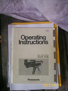 621. Panasonic, Instruktionsbok
