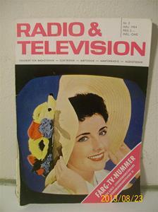 759. Radio & Television nr 5 maj 1964. Pris: 3,00:-. Tidskrift för radio/tvteknik. 101_0409