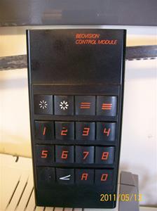 548. Bang & Olufsen, fjärkontroll. Typ: Beovision Controle Modu. Nr: 1894032. Se nr: 547, TV:n. Fotonr: 100_8210