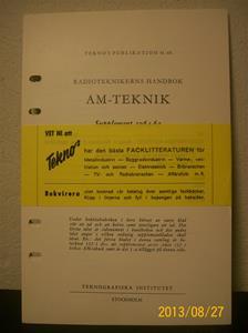 771. Radioteknikerns Handbok AM-Teknik. Supplement 1964-65. Pris: 7,70:-, porto: 0,90:-. Teknós publikation 41 64. År: 1964. 101_0435