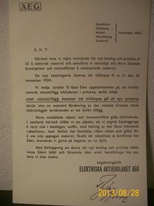 791. AEG, följebrev till katalog intnr: 790. November 1934. 101_0483
