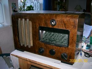 115. Reserverad. Luxor//Radio rörmottagare. Typ: 1170 W. Nummer: 41131. Tillv.år: 1938. Foto: 100_1224. Inlagt på webben 2014-06-04.