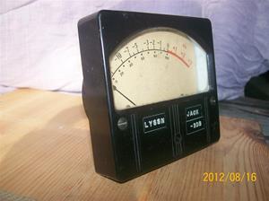 599. Weston Elec.inst, ljudmätare från Sveriges Radio. Typ: 862 N4. Tillv: USA Corp. Newark N.J USA. Nr: ? Fotonr: 100_9461