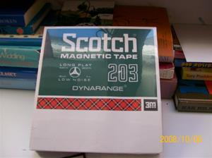 264. Scotch, magnetic tape. Typ: 203 540m. Nr: 311040. Fotonr: 100_2261