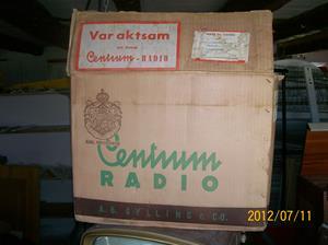 566. Centrum, originalkartongen till radio nr: 565. Fotonr: 100_9310