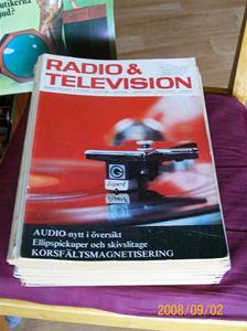 240. Radio & Television, tidningar. Div. nr. 23 stycken från 1969-1983. En del specialnr. och stornr. Fotonr: 000_0014.