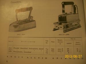 774. Såld. Helios, elektriska värmeapparater. Katalog H-35. År: 1935. Lite av innehållet. 101_0442
