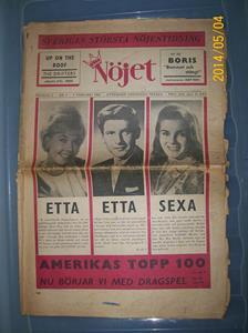 870. Nöjet, nöjesforum. Nr: 3, 7 februari 1963. Pris: 0,45:-.Fotonr: 101_0631