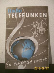 781. Såld. Telefunken, produktbeskrivning/prislista. Radio Telefunken 2. 37. Tillv: 1937.  101_0465