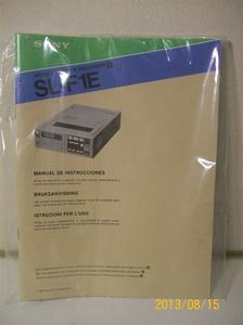 709. Sony instruktionsbok för Betamax SL-F1E. Nummer 3-783-868-41 (3). Tillv. år 1981. 101_0312