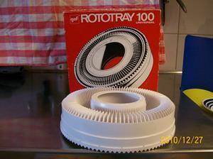 468. Rototray, diabildsrotator. Typ: 100 universal. Nr: ?. Fotonr: 100_7500