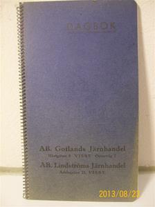 765. Dagbok/Almanacka. AB Gotlands Järnhandel / AB Lindströms Järnhandel.  101_0418