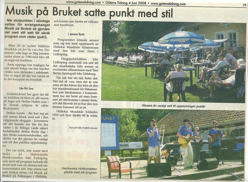 Sista musik på Bruket 2008