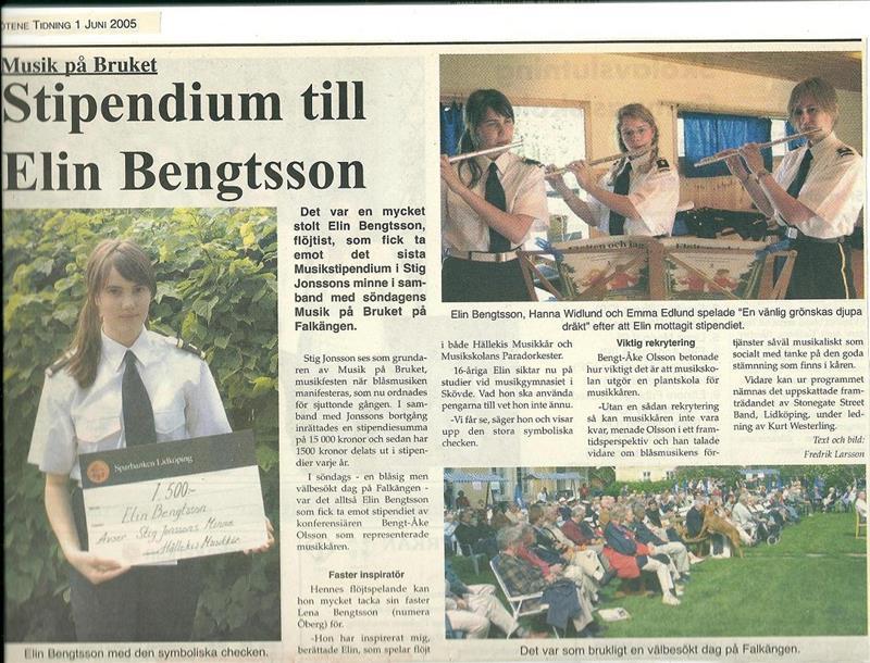 2005 Musik på Bruket Stipendium