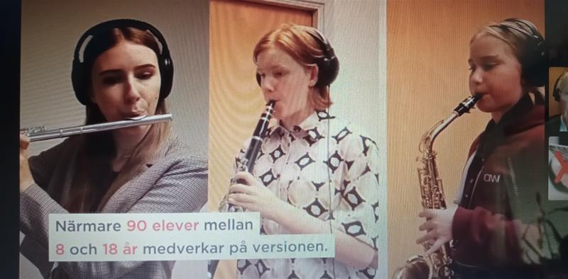 Voices i tv4 med Götene kulturskola 18 maj 2021
