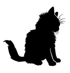 silhouette-a-little-kitten-sitting-vector-29119698