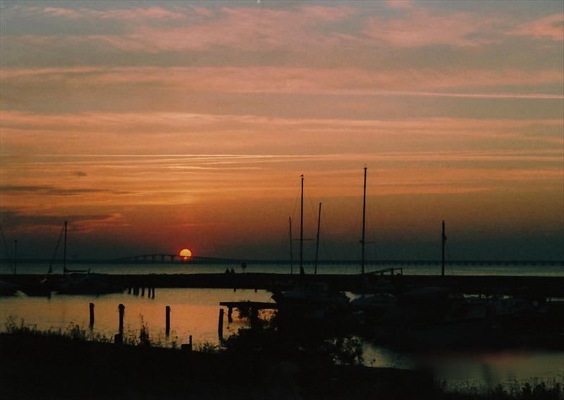 Solnedgång över Ölandsbron