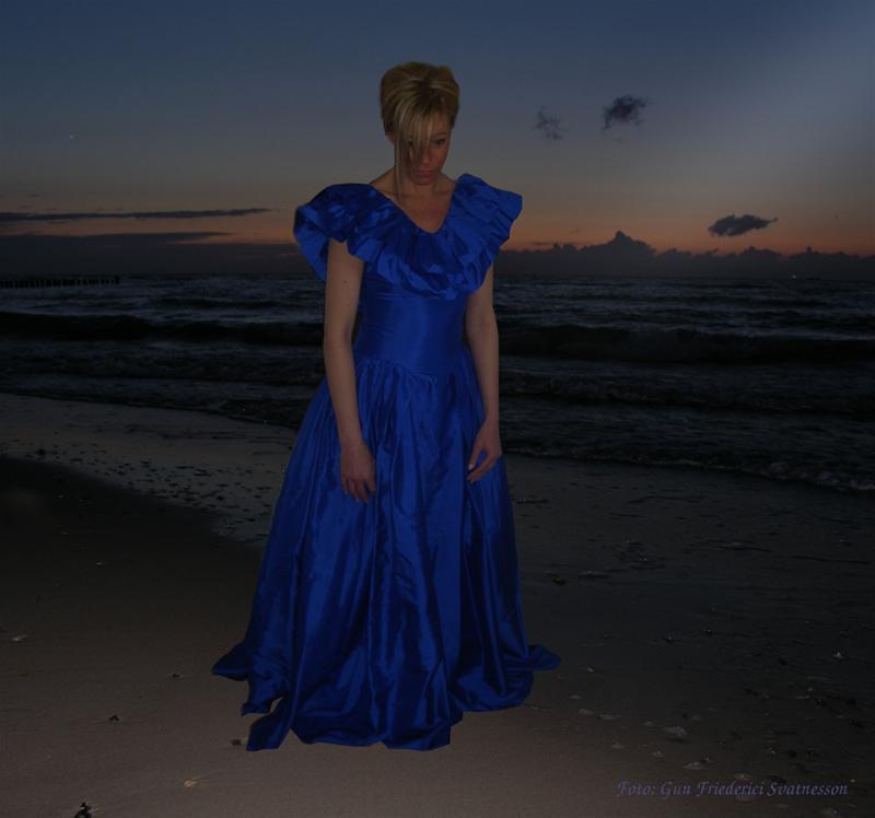 Women in blue.