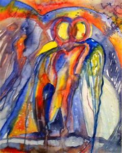 Liebestraum I, akvarell 60x75