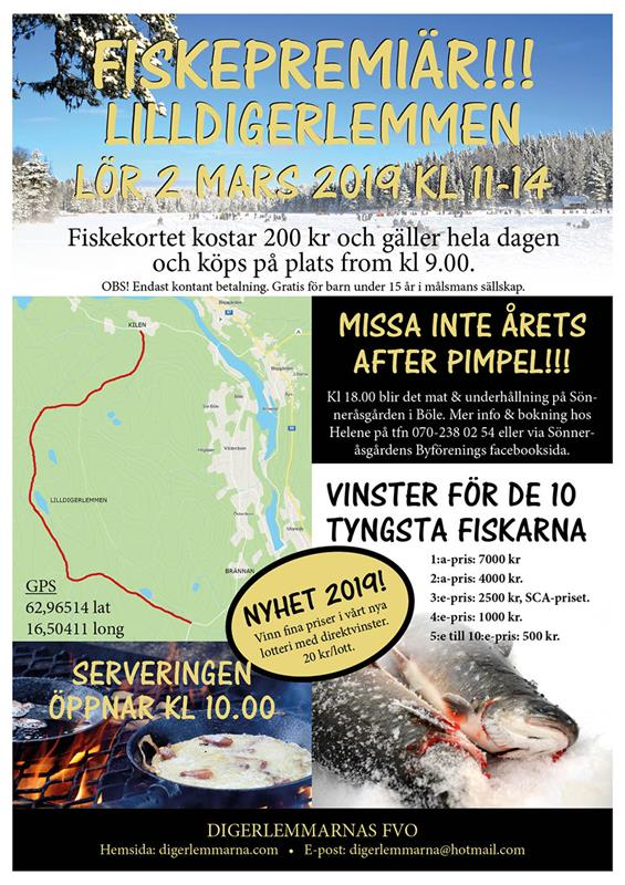 Fiskepremiär Digerlemmarna 2019