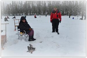 Anita Wiklander från Söråker fick fisk