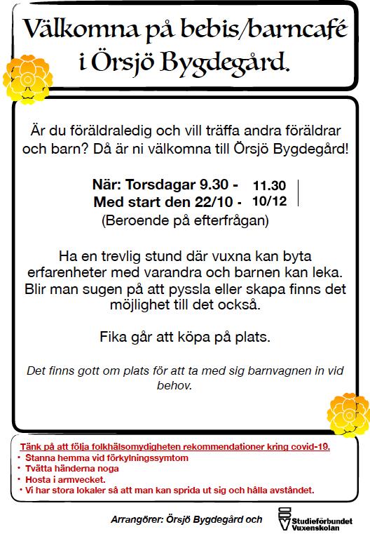 Affisch bebis:barncafé
