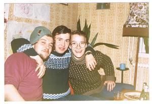Bottan, Sven och jag hos Sune Olsson på Näs 1984.