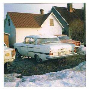 Siverts Opel Kapitän, tror den var från mitten på 1960-talet.