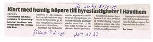 Gotlandshem klart med hemlig köpare i Havdhem 2015 09 27. Gotlands Tidningar.