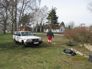 Emil tvättar 245:an. IMG_1446