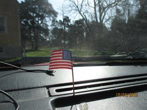 Interiör i min 745:a. Amerikanska flaggan. IMG_1456