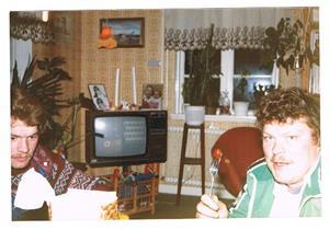 Banda och Sune Olsson 1984.