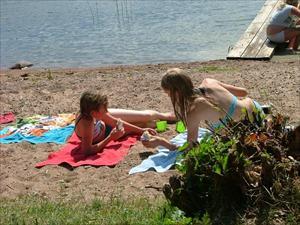 Picnick på stranden