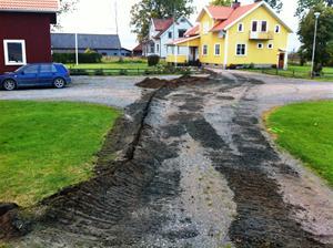 Fiberslangs nedgrävning Bäckagården Larv_4