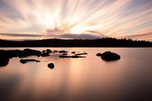 Solnedgång vid Brotorpet, Fotograf: Daniel Nilsson