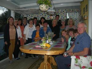 En utvärderings kväll där samlades alla inblandade, både tjecker och svenskar