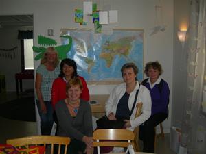 Tjeckiska kollegor i Norrgårdens förskola hos Tina