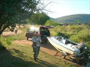 Craigs bil och båt vd Komati River