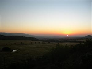 Soluppgång över Mountain View