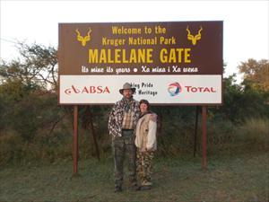 Camilla och Björn vid Krugerparken