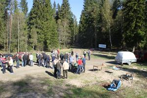 Skogsdag av södra o LRF förevisar ladugården 038