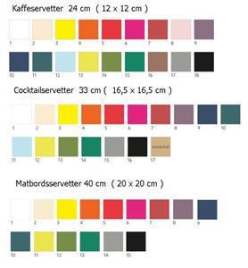 Duni-produktfärger