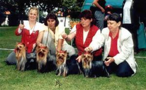 En av Footprints många Hedersprisbelönade uppfödargrupper. Här på SYTS rasspecial 2000.
